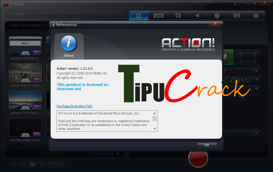 Mirillis Action 1.31.5 Crack Full Latest Version Download