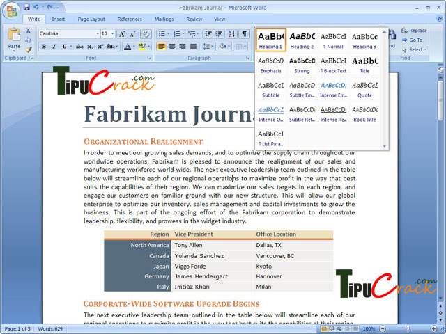 Microsoft Office 2007 Crack With Product Key Download