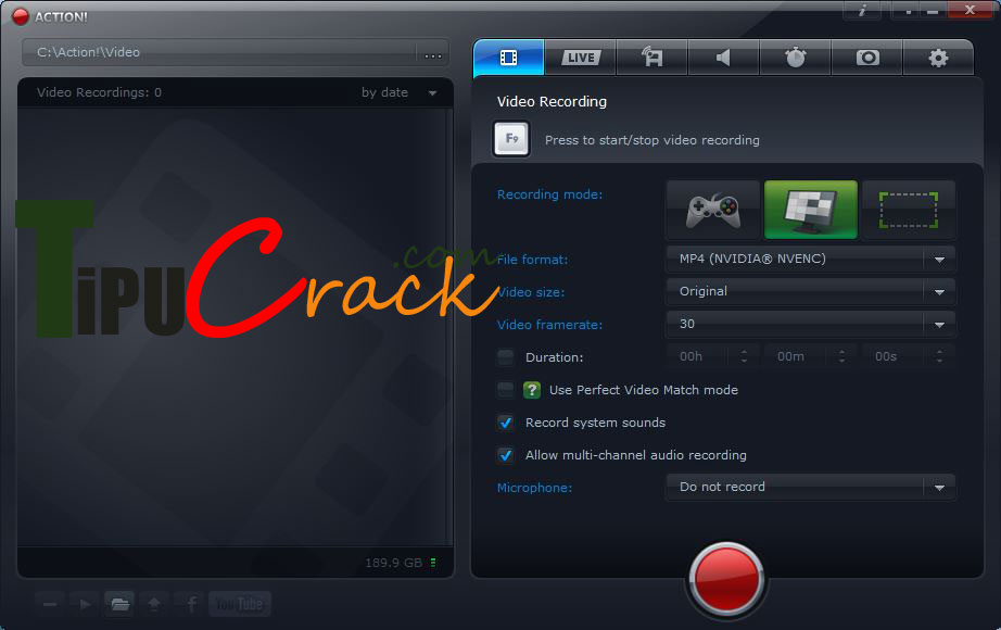 Mirillis Action 1.31.5 Crack With Serial Key Free Download