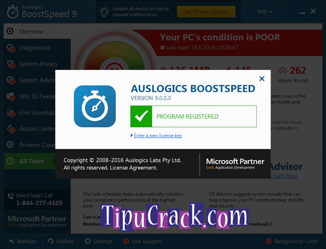 Auslogics BoostSpeed 9 Key And License Key Free Download