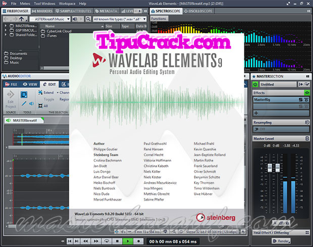 Steinberg WaveLab Elements 9 Crack + Serial Key Full Version [Here]