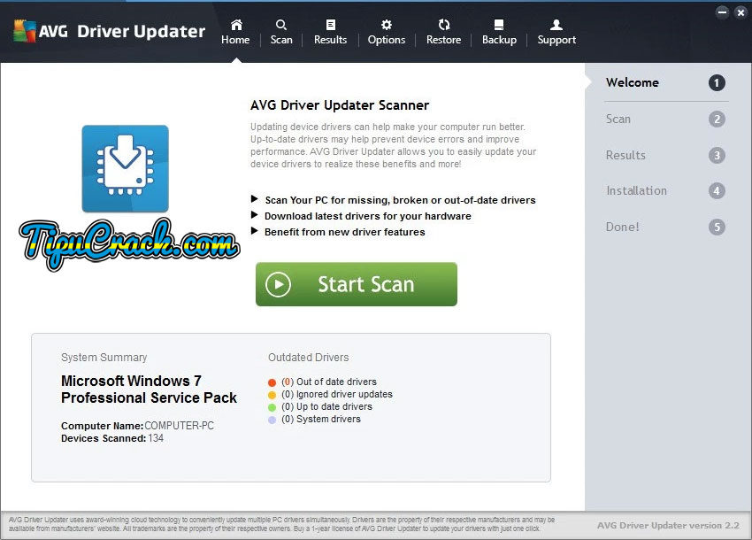 AVG Driver Updater 2.2.3 Key With Patch Latest Free Download