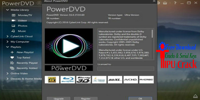 Cyberlink PowerDVD Ultra 16 Crack With Serial Key Free Download