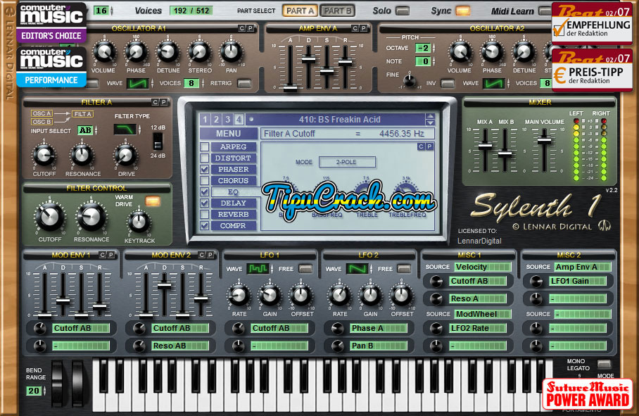 Sylenth1 Crack v2.2.1 For Mac And Windows x86 + x64 Full Version