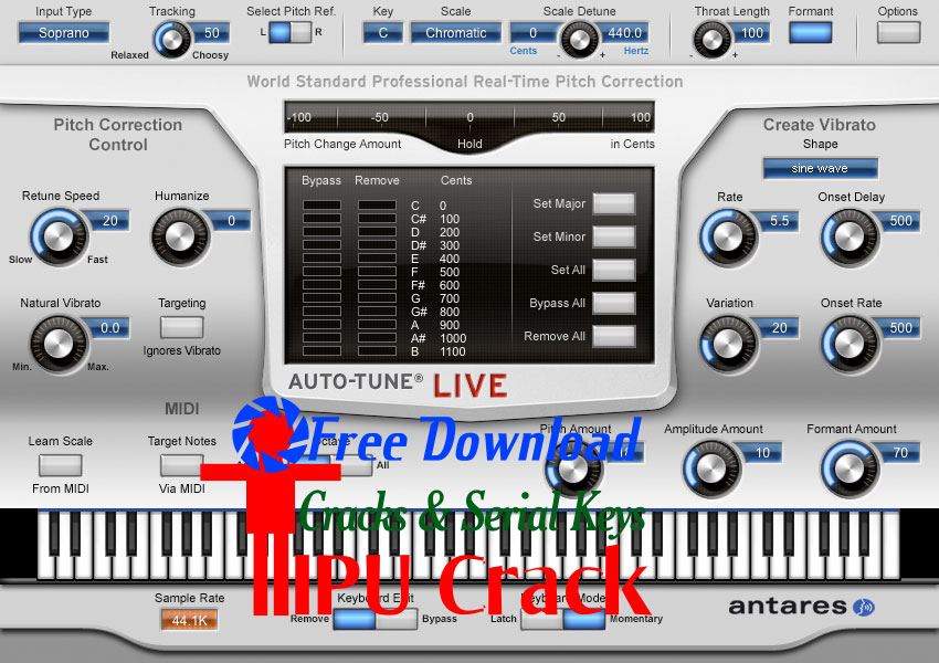 Antares Autotune 8 Crack With License Key Latest Free Download
