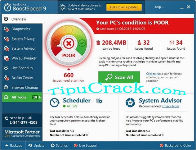 Auslogics BoostSpeed 9.1.3.0 Serial Key With License Key Free Download