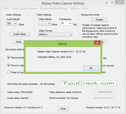 Replay Video Capture 8 Crack With Serial Keygen Free Download