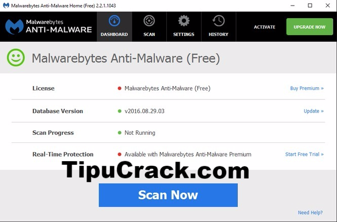 Malwarebytes Anti-Malware 3.1.2.1733 Crack + Serial Key Free Download